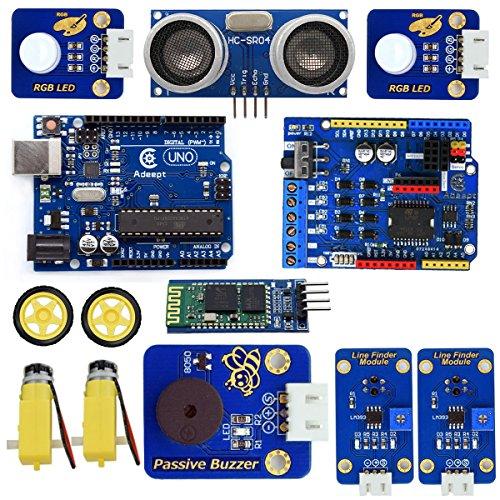Adeept 3WD Bluetooth Smart Robot Car Kit for Arduino UNO R3