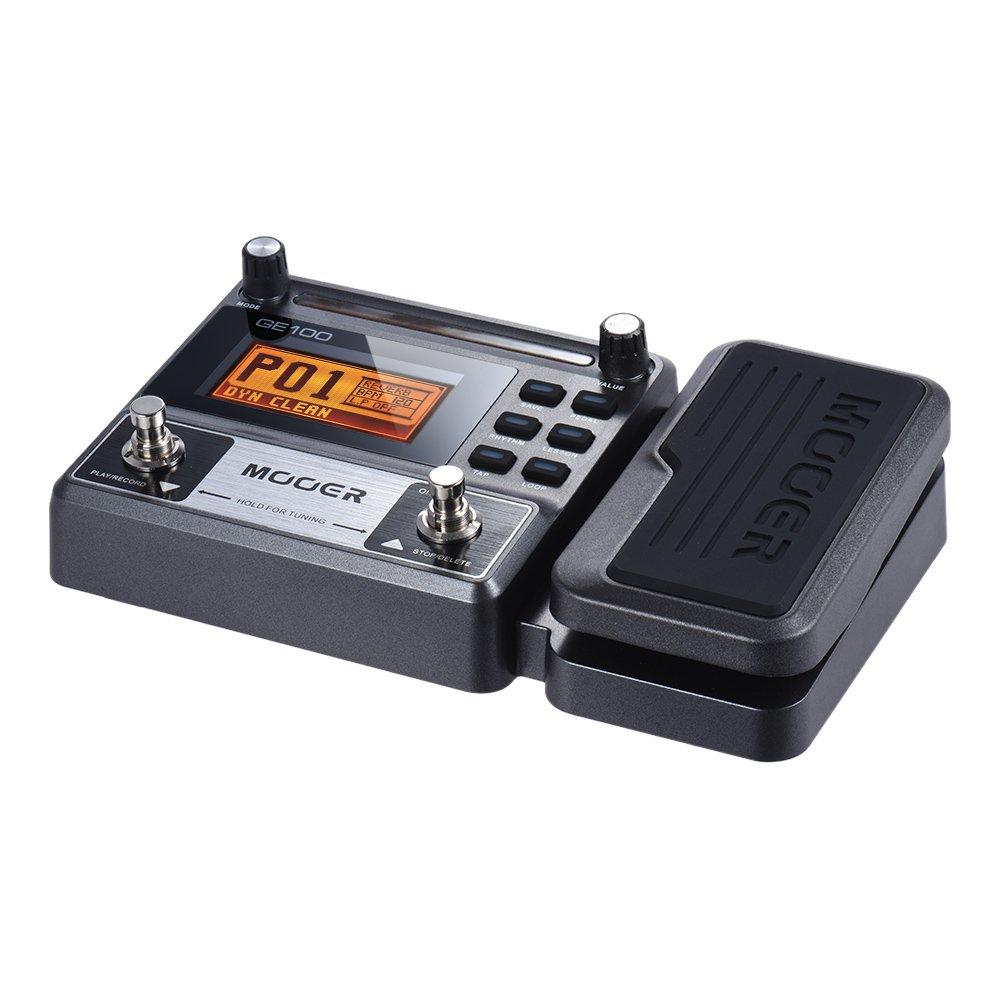 Muslady MOOER GE100 Multi-efectos de Guitarra pedal de Efectos del Procesador con la Grabación en Bucle (180 segundos) Sintonía Rhythm Tap Tempo Ajuste de ...