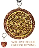Luvin Life Flower of Life Orgone Pendant Generator EMF Protection. END of LINE Clearance Bonus Amethyst Key Ring and E-Book.