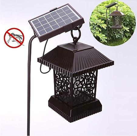 AtR Lámpara Solar para Mosquitos jardín Exterior Repelente de Mosquitos jardín Impermeable para el hogar agrícola Mosquito Asesino jardín lámpara LED Mosquito Asesino lámpara para Mosquitos: Amazon.es: Hogar