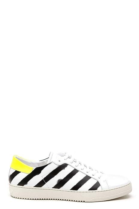 Off-White Hombre Omia017s173500020110 Blanco/Negro Cuero Zapatillas: Amazon.es: Zapatos y complementos