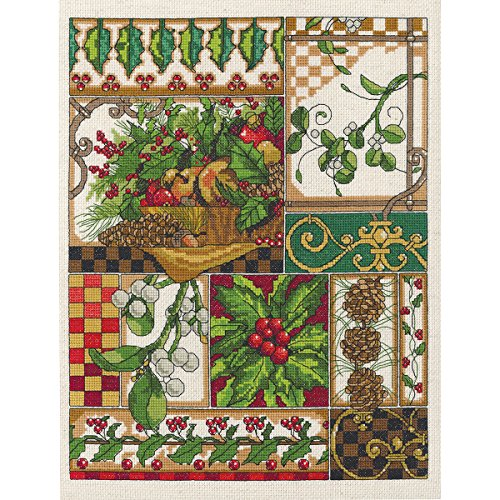 Janlynn 14 Count Winter Montage Counted Cross Stitch Kit, 11-Inch x 14-Inch from Janlynn