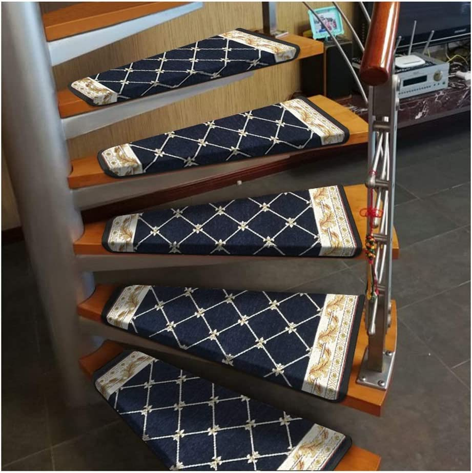 Awayhall Stairs Mat Stairs Tread Carpet Mat Stairs Stepping Mat Anti-Slip Adhesive Stairs Mat Repeatable Washable 55x20cm