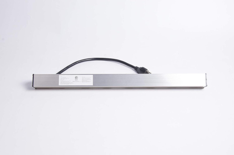03196 ProHT 6 Outlet Aluminum Power Strip Silver