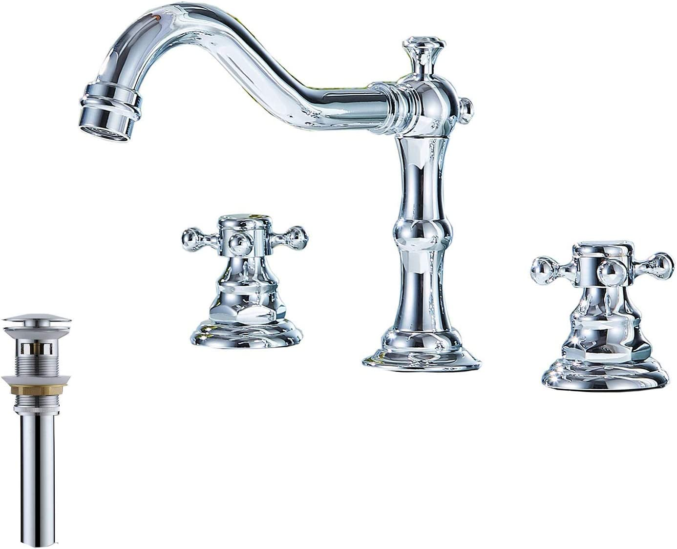 Ggstudy Two Handles Three Holes Faucet 8 16 Inch Widespread