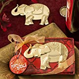 60 Good Fortune Elephant Design Gold Metal Bottle Openers