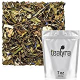 Tealyra - White Coconut Cream - Premium White Tea with Coconut Chips Blend - Loose Leaf Tea - High in Antioxidants - Caffeine Level Low - All Natural Ingredients - 200g (7-ounce)