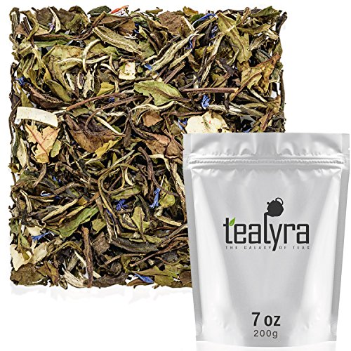 Tealyra - White Coconut Cream - Premium White Tea with Coconut Chips Blend - Loose Leaf Tea - High in Antioxidants - Caffeine Level Low - All Natural Ingredients - (White Tea Vanilla Blend)