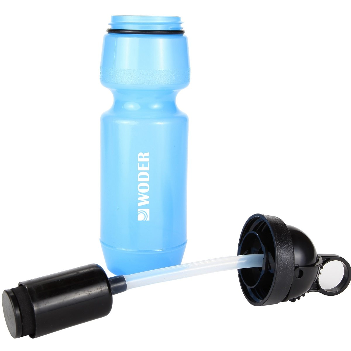 Woder 24-Sur Survival Water Filter Bottle w High Performance Ionic Filtration System - 100Gal Cartridge Capacity - Made in USA - 24oz. BPA Free