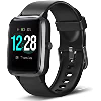 LETSCOM Smart Watch Fitness Tracker Heart Rate Monitor Step Calorie Counter Sleep Monitor Music Control IP68 Water…