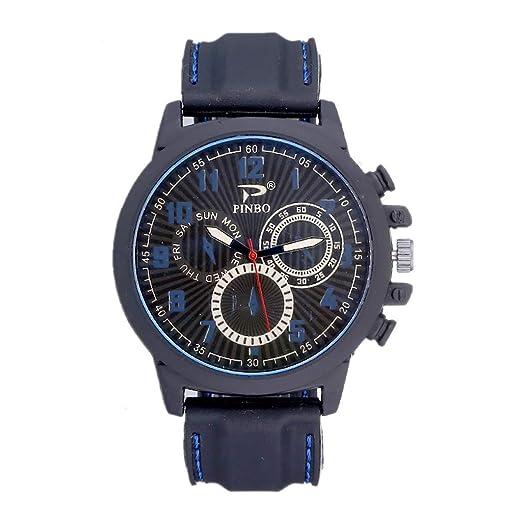 POJIETT Relojes Deportivos Hombre Reloj Militar Digital Reloj Pulsera Actividad de Cuarzo para Hombre Reloj Negro Correa Cuero Sports Watch for Men Rebajas: ...