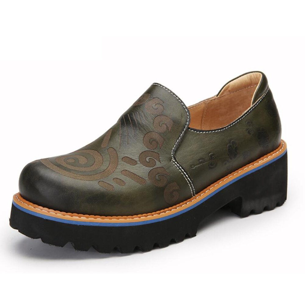 New Damenschuhe Leder Fruuml;hjahr/Sommer Loafers Slip-Ons Fahr Schuhe National Style Sandalen/Hausschuhe Flip-Flops Persouml;nlichkeit Walking Schuhe Office Breathable eu size  35|EIN