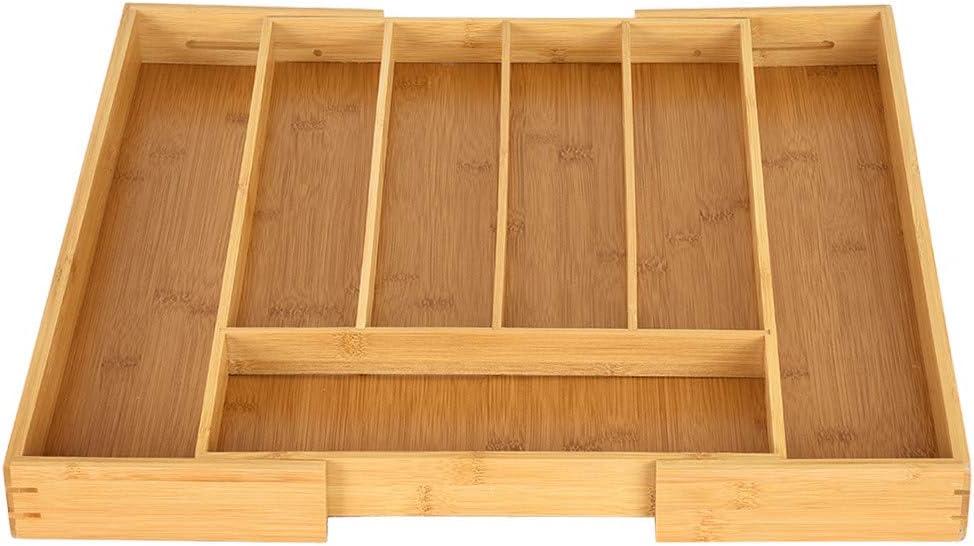 Amazon.com: Panzisun Bamboo Expandable Drawer Organizer Non ...