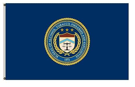 6ab0fbef58ec FYOn departamento de justicia Banner la mesa de alcohol, tabaco, bandera de  armas de