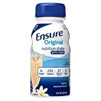 Ensure Original Nutrition Shake with Fiber, 9g High-Quality Protein, Meal Replacement...