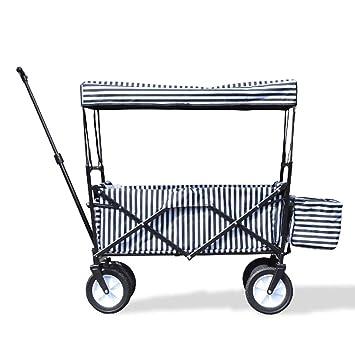 Carretilla De Mano Plegable Gona - Carro De Playa con Frenos Neumáticos De Goma Maciza,