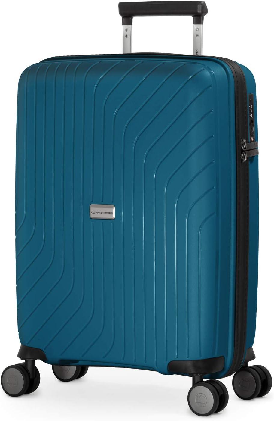 HAUPTSTADTKOFFER - TXL - Equipaje de Mano Ligero, Trolley rígido de Polipropileno Resistente, Maleta Cabina 55 cm, 36 L, Cierre TSA, Azul Royal