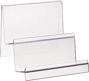 TOPBATHY 2 Tier Clear Acrylic Wallet Display Stand Holder Handbag Purse Display Stand Jewelry Stand Cosmetic Display Racks