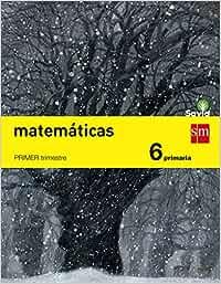 Matemáticas. 6 Primaria. Trimestral. Savia - Pack de 3