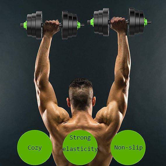 Mancuernas Desmontables, Hombres, Equipos de Ejercicios para el hogar, Barras para Ejercicios, un par de músculos del Brazo (tamaño : 20kg): Amazon.es: ...