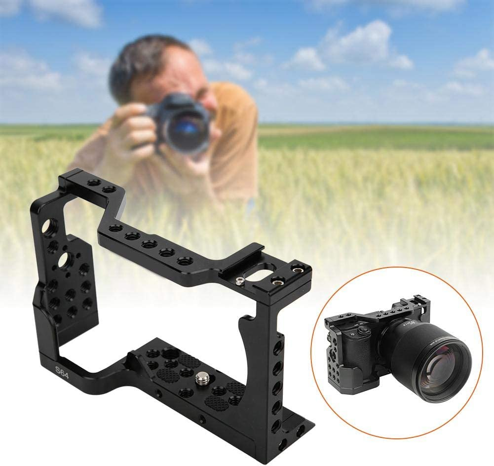 Vbestlife 1//4 3//8 Hole Metal Camera Cage Stabilizer Grip//Microphone//Monitor//Light LED Enpansion Bracket Frame for Sony A6400