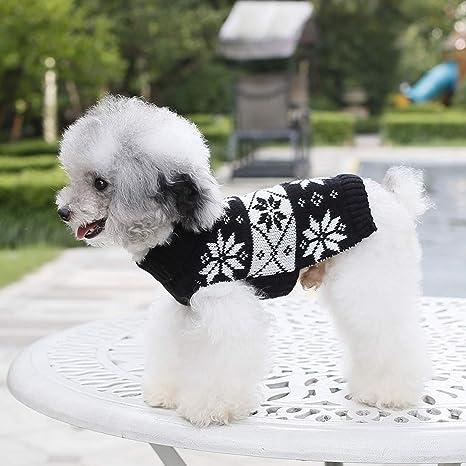 Ofliery Suéter de Copo de Nieve es cálido y Lindo para Perros pequeños (Color : Black, Size : XXL): Amazon.es: Hogar