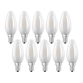 Osram 975552 Bombilla LED E14, Blanco Lote de 10 Unidades
