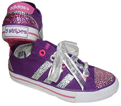 purchase cheap 44d08 5df70 adidas Custom Trainers Girls Crystal Bling Canvas Pumps UK Size 13 EU 31.5  New  Amazon.co.uk  Shoes   Bags