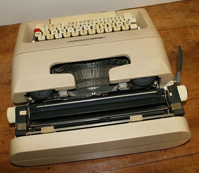 Olivetti Lettera 35 de máquina de escribir portátil diseñado por Marcello Nizzoli: Amazon.es: Hogar