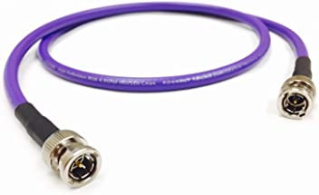 Black for 4K // UHDTV 75 Ohm 12G-SDI 6 Foot Belden 4794R 12G UHD-SDI RG7 BNC Cable by Custom Cable Connection