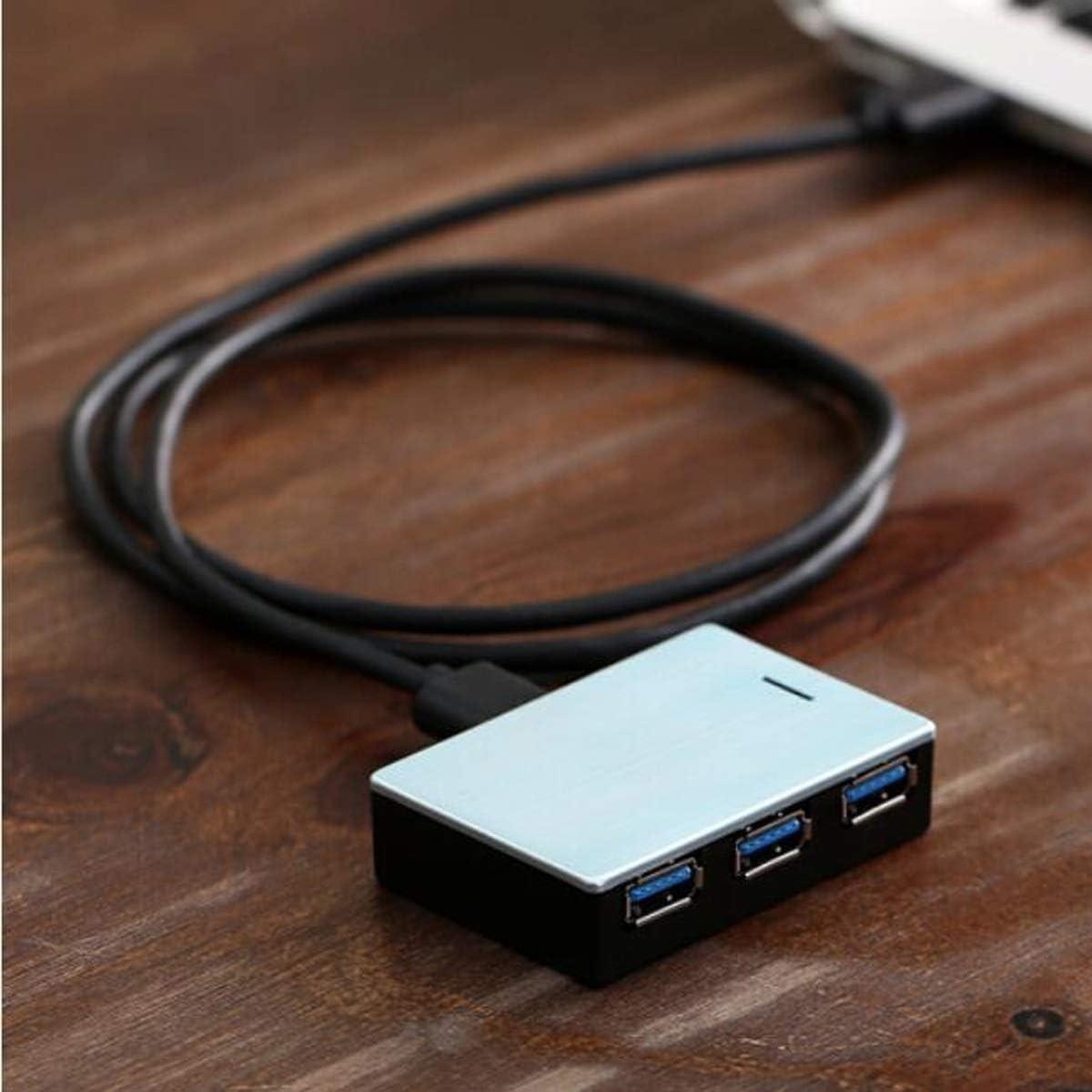 Hi-Speed USB3.0 HUB Hub Color : Silver Jiansheng Hub Mini Metal Silver Beautiful USB Splitter