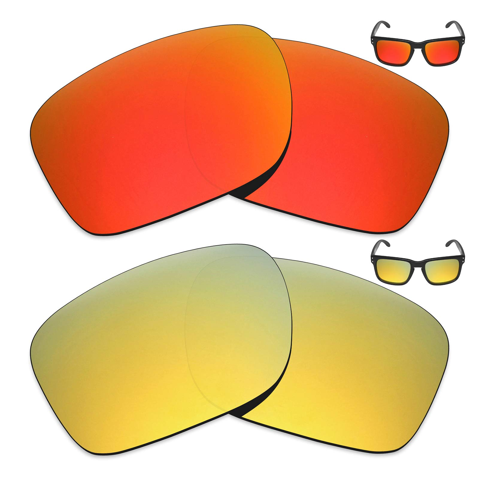 Mryok 2 Pair Polarized Replacement Lenses for Oakley Holbrook Sunglass - Options by Mryok