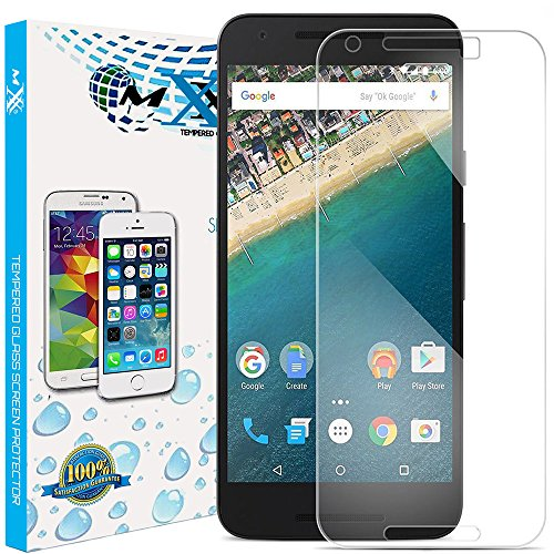 Nexus 5X Screen Protector, 9H Hardness 2.5D Round Edge Tempered Glass Screen Protector for Nexus 5X - Pack of 2