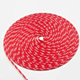 """New England Ropes 3/16"""" (5mm) Sta-Set Solid Red"""