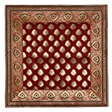 Maroon Red Throw Pillow Covers Silk Indian Decorations Home 18 x 18 Inches