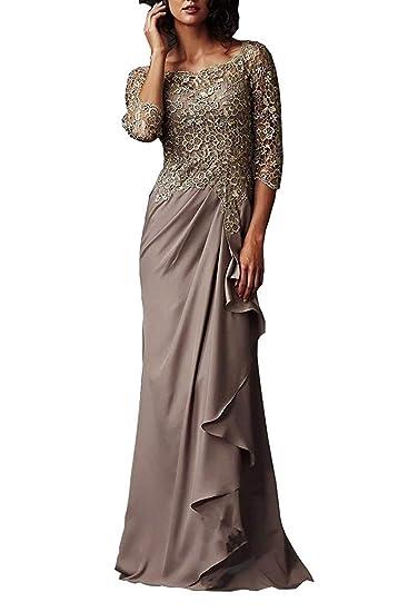 DMDRS Women\'s Plus Size Grey Chiffon Sheer Long Evening Dress Formal Ball