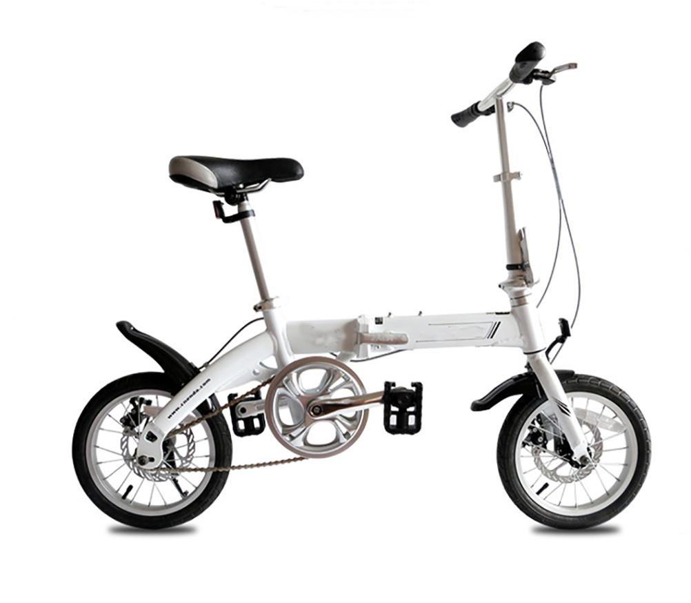 MASLEID 14 pulgadas de niños y niñas infantiles para bicicletas plegables aleación estudiante mini bici , blue: Amazon.es: Deportes y aire libre