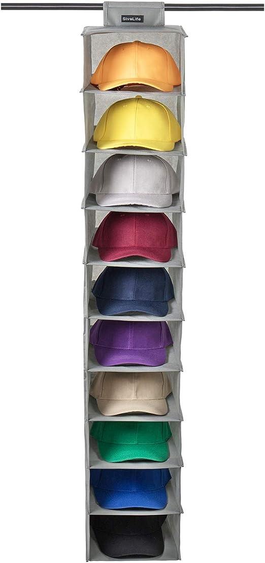 SivaLife - Organizador Colgante para Sombreros y Sombreros, 10 ...