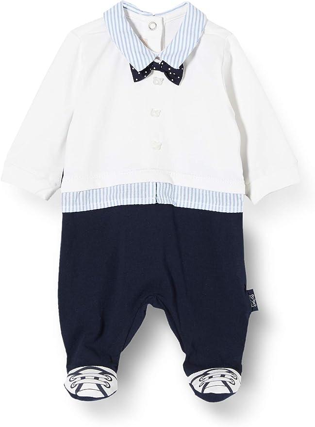 Chicco Baby-Jungen Tutina Bimbo Con Apertura Sul Patello Playsuit