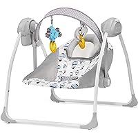 Kinderkraft KKBFLOPINK0000 Babywippe Babyschaukel mit Spielbogen und Melodien