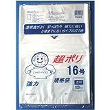 リュウグウ ポリ袋 超ポリ 16号 透明 100枚入 TPE-0216