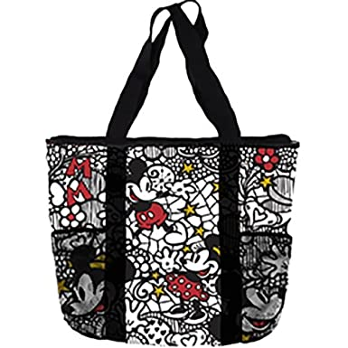 Amazon.com: Disney Mickey Minnie Mouse bolsa de mano con ...
