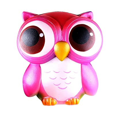 kingfansion Super Slow Rising Squishies Jumbo Prime Lovely Pink Owl Cute Toy, Mochi Squishy Animals Scented Squishy Toys Adult Novelty Gifts Stress Reliever: Toys & Games