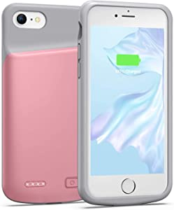 Battery Case for iPhone 6 6s, 4500mAh Portable Protective Charging Case Extended Rechargeable Battery Pack for 4.7 Inch iPhone 6 6s (Pink)