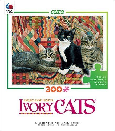 Ceaco Ivory Cats - Christie, Posky and Zelly Puzzle by Ceaco