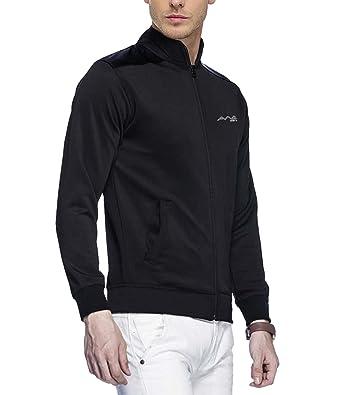 dea76e032 AWG Mens Black Polyester Rider Jacket