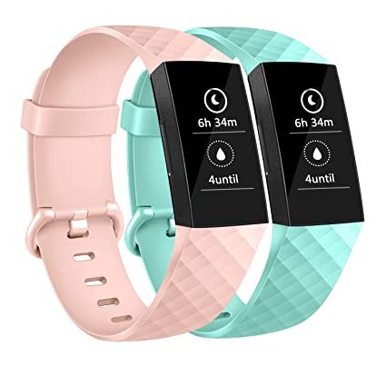 AK Bands Compatible for Fitbit Charge 3 & Fitbit Charge 3 Special Edition,  Small Large Adjustable Sport Wristbands for Fitbit Charge 3 Women & Men