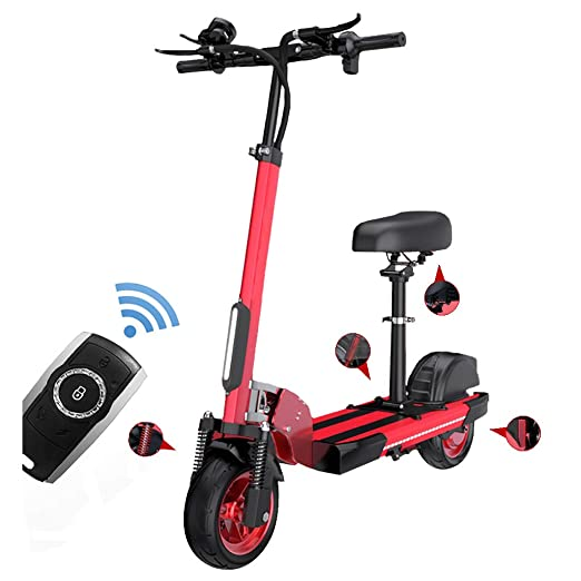 Patinetes Electricos con Asiento,Plegable E-Scooter 500W,10 ...