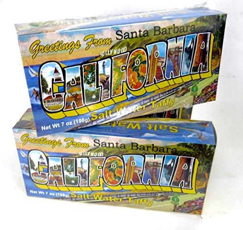 Santa Barbara, California, Salt Water Taffy candy, 3 Boxes, (Holiday Santa Salt)