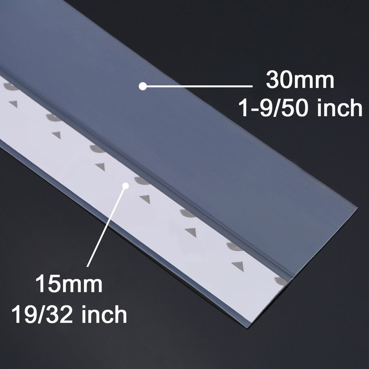 45mm 45mm Width Cedmon 16 Ft Long Weather Stripping Self Adhesive Door Bottom Frameless Silicone Draft Stopper for Doors and Windows Insulation Soundproof Seal Strip Translucent